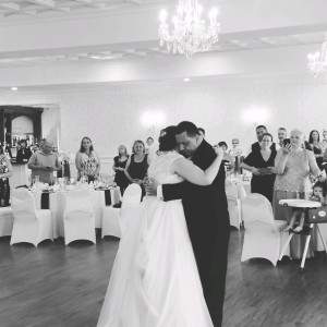 Curryeventservices.com (Black and white) Touching Moment