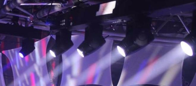 Downward Dancefloor Lights