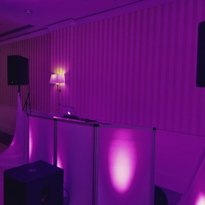 Curry Event Services of New England DJ Booth and Uplights