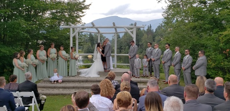 a Beautiful ceremony at Waterville Valley Resort w/ Curry Event Services